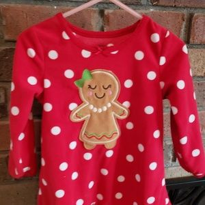Gingerbread Pajama Gown Sz 2T